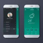 Mobile app - green version